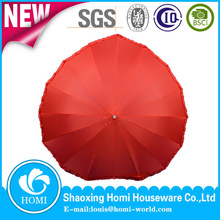 Fiberglass Umbrella Promotional Umbrella Heart Shape Sun Parasol