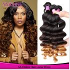 Grade AAAAA two tone ombre hair weaves,brazilian remy hair