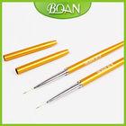 Boqian Factory New Design Metal Handle Nylon Nail Art Liner Brush