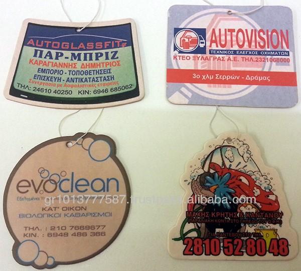 Promotional car airfresheners | Advertising car airfresheners | Custom printed car airfresheners
