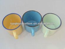nice design enamel drinking cup porcelain enamel metal mug