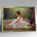 Brauch haustier linsenförmige 3d-bild des schönen mädchens