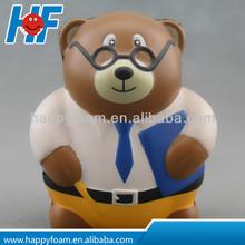 Hot sale PU bear stress ball ,promotional gift