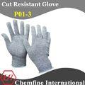 la química resistente de goma de butilo guantes
