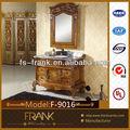 Luxo em madeira maciça de banho armário espelhado f-9016