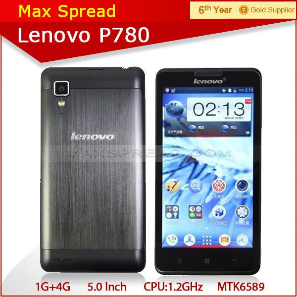 5.0'' lenovo p780 mtk6589 quad core dual sim brand phone