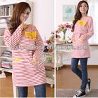 Wholesale orange / dark blue stripe breast-feed baby dresses maternity dresses nursing baby dress AK108