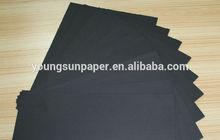 uncoated black cardboard 0.55mm for making photo album paper