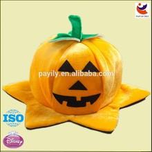 EN71 hot sales comb plush crochet pumpkin beanie hat halloween pumpkin hat,witch hat,halloween decoration