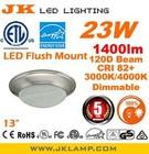 ETL EnergyStar Inseparable Flush Mount led Ceiling Lights 13 inch dimmable 23W 1400lm 3000K CRI 82+ Brushed Nickel