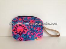 Thailand Print Neon cosmetic bag