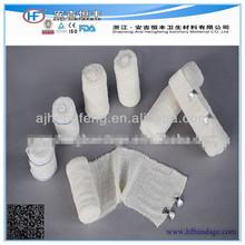 """Médico 100% natural algodão atadura elástica crepe/algodão atadura de crepe 2"""", 3"""", 4"""", 6"""""""