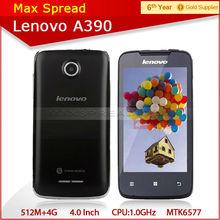 4.0 inch lenovo a390 lenovo dual core big display cellular phone