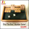 YC-WSL0001 wooden shut the box game
