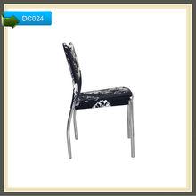 fabric velvet restaurant wrought iron dining chairs modern
