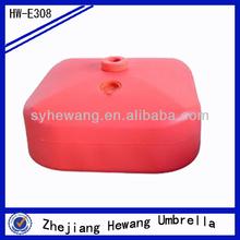 20l uso al aire libre de agua de plástico llena de material de agua de plástico base de paraguas