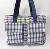 Hot Sell Multi-function Grid Baby Diaper Nappy Bag Mummy Bag
