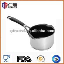 stainless steel soup pot/non-stick milk pot/metal houseware product practical pouring rim