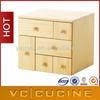 wooden straw drawers shelf chest storage cabinet
