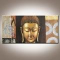de alta calidad de arte moderno abstracto buda de oro de la pintura al óleo sobre lienzo para sala de estar