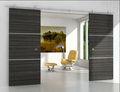 De la puerta doble conjunto/moderno de acero inoxidable( cepillado) granero de hardware de la puerta para la puerta interior de madera