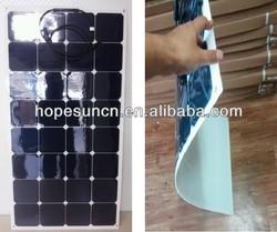 New High efficiency mono sunpower solar panel, solar flexible pv panel 130W