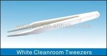 White Cleanroom Plastic Tweezers