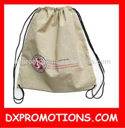 OEM cotton canvas drawstring bag/drawstring sports bag