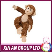 Plush toy brown soft monkey