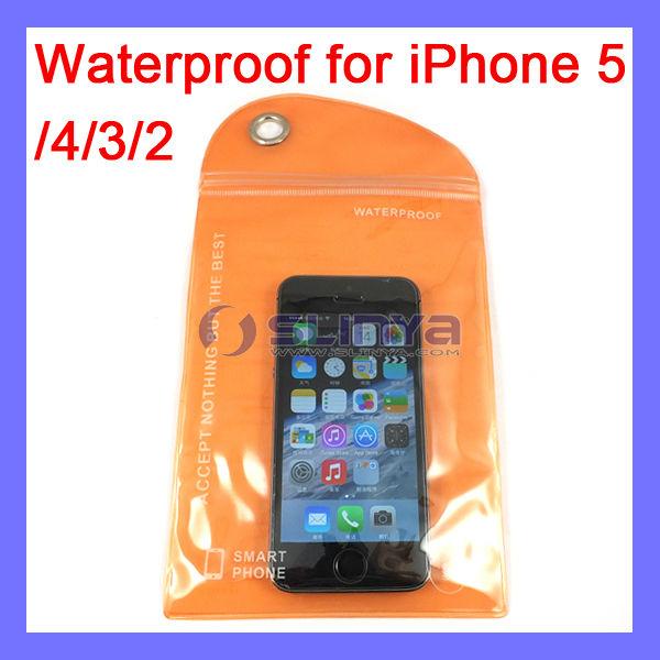 20 X 10cm Outdoor Necessary Waterproof Bag for iPhone 5 5C 5S