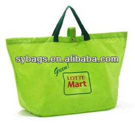 Custom promotion polyester foldable shopping bag