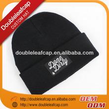 Warm 100% Acrylic Winter Ski Knitted Beanie Hat Pattern