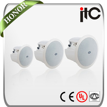 """ITC T-208P 50W 100V 6.5 inch and 1.5"""" Flush Mount PA System In Ceiling Speaker"""