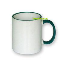 Rim Handle Color Sublimation Coated Mug 110Z