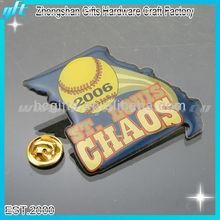 2014 Customized metal fancy lapel pin, sports fancy pins, printing fancy lapel pin badges