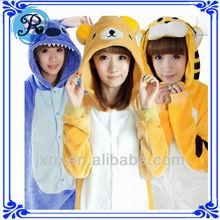 Custom adult footless pajamas onesie flannel fleece animal pajamas funny minion pajamas
