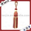red tassel tieback taojin tassel. handmade curtain tassel