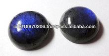 Natural Labradorite 20mm Blue Fire Round Cabochon Hot Stone
