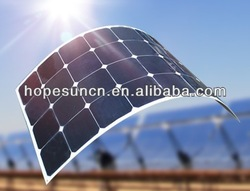 High efficiency 140W monocrystalline flexible solar panel