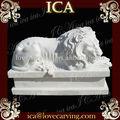 de mármol tallado escultura de león