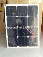 22% high efficiency sunpower 40W flexible monocrystalline solar panels
