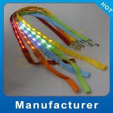 nylon super bright flashing led pet leashes