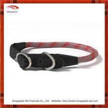 Round rope braided nylon dog collar