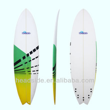 2014 New item PU designs surfboards with 5 FCS fin system