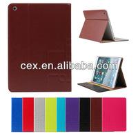 Leather Wallet Smart Flip Case for iPad 5 iPad Air with auto sleep wake