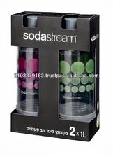 Premium Sodastream PET Carbonating Bottles 1L Each - Set of 2 Bottles Soda Club
