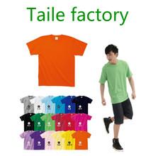 Moda color mezclado algodón de la sublimación camiseta en blanco manga corta de la buena calidad de la sublimación camiseta en blanco