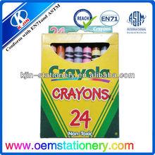 8.8cm 24 color crayons set /wax crayons /finger shape crayola crayons