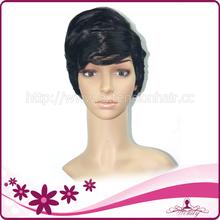 MOQ 1 Pc Elegant Black Short fluffy black wig synthetic wigs for black women
