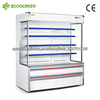 supermarket upright chiller with air curtain
